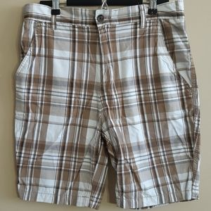 Faded Glory | brown checkered plaid shorts